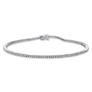 18 kt fehérarany karkötő 113 gyémánttal 5B851W8-2