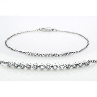 18 kt fehérarany karkötő 13 gyémánttal 5A697W8-1