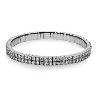 18 kt fehérarany karkötő 134 gyémánttal 5B318W8-6