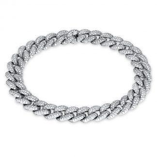 18 kt fehérarany karkötő 1506 gyémánttal 5C008W8-1
