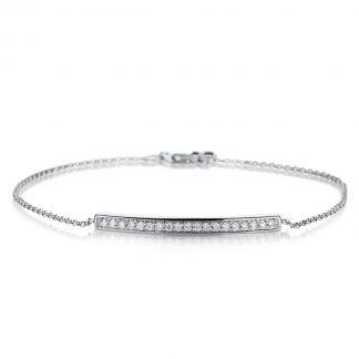 18 kt fehérarany karkötő 19 gyémánttal 5A050W8-1