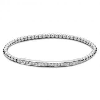 18 kt fehérarany karkötő 20 gyémánttal 5A003W8-1