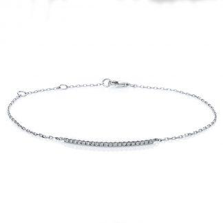 18 kt fehérarany karkötő 20 gyémánttal 5A539W8-1