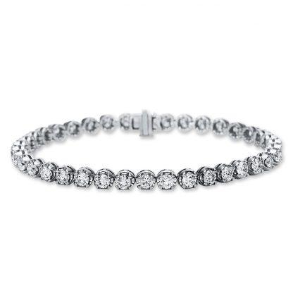 18 kt fehérarany karkötő 38 gyémánttal 5C021W8-1