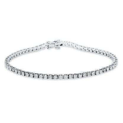 18 kt fehérarany karkötő 66 gyémánttal 5C018W8-1