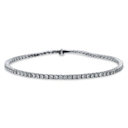 18 kt fehérarany karkötő 74 gyémánttal 5B928W8-1