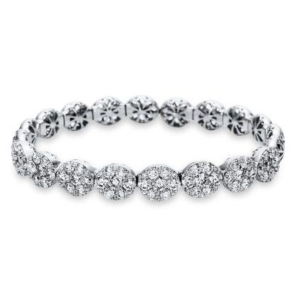 18 kt fehérarany karperec 104 gyémánttal 6A576W8-1