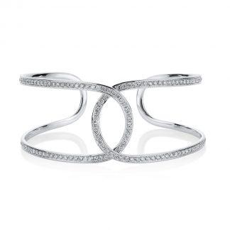 18 kt fehérarany karperec 132 gyémánttal 6A046W8-4