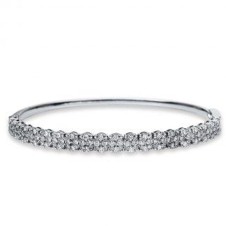 18 kt fehérarany karperec 200 gyémánttal 6A546W8-1