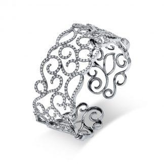 18 kt fehérarany karperec 350 gyémánttal 6A521W8-1