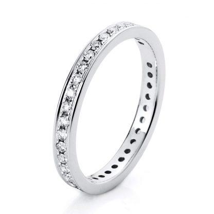 18 kt fehérarany körbe köves eternity 37 gyémánttal 1A474W853-1