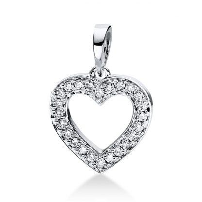 18 kt fehérarany medál 24 gyémánttal 3D813W8-2