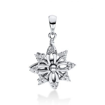 18 kt fehérarany medál 24 gyémánttal 3D890W8-1