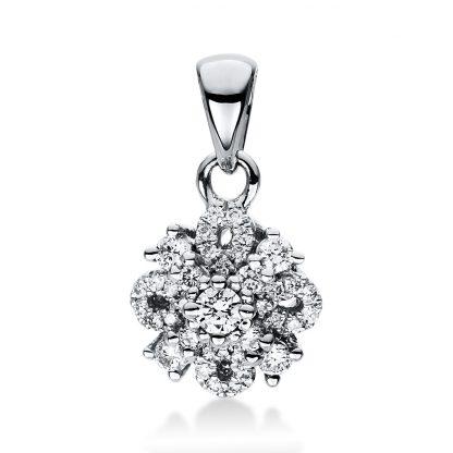 18 kt fehérarany medál 37 gyémánttal 3D960W8-1