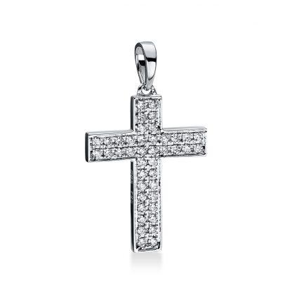18 kt fehérarany medál 42 gyémánttal 3D768W8-5