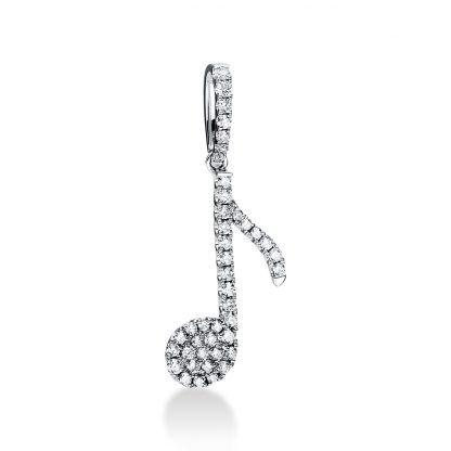 18 kt fehérarany medál 42 gyémánttal 3D875W8-1