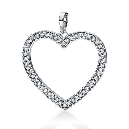 18 kt fehérarany medál 50 gyémánttal 3D815W8-5