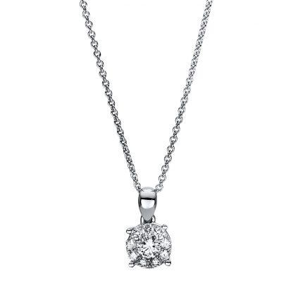18 kt fehérarany nyaklánc 10 gyémánttal 4F453W8-1