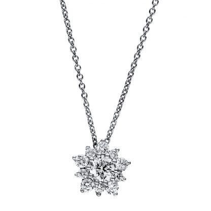 18 kt fehérarany nyaklánc 11 gyémánttal 4F348W8-1