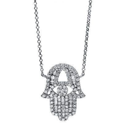 18 kt fehérarany nyaklánc 115 gyémánttal 4F545W8-1