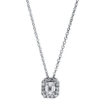 18 kt fehérarany nyaklánc 15 gyémánttal 4F357W8-1