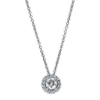 18 kt fehérarany nyaklánc 15 gyémánttal 4F359W8-1