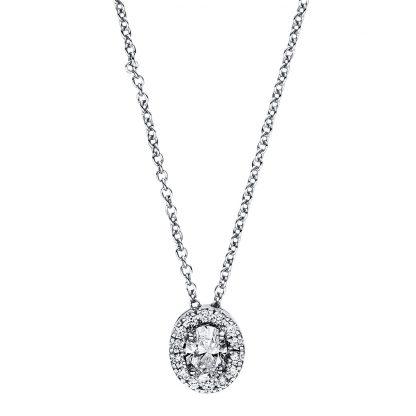 18 kt fehérarany nyaklánc 15 gyémánttal 4F360W8-2