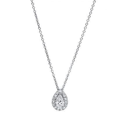 18 kt fehérarany nyaklánc 16 gyémánttal 4F358W8-2