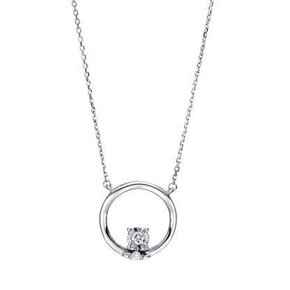 18 kt fehérarany nyaklánc 2 gyémánttal 4F497W8-1
