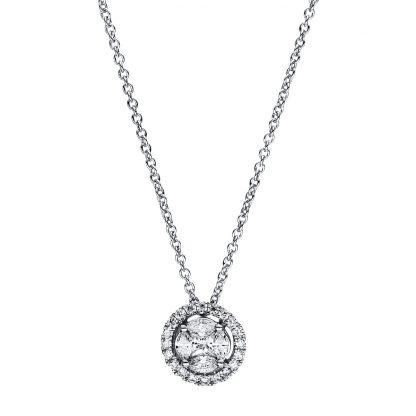 18 kt fehérarany nyaklánc 25 gyémánttal 4F346W8-1
