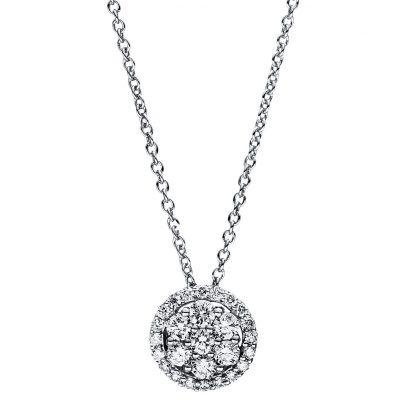 18 kt fehérarany nyaklánc 27 gyémánttal 4F354W8-3