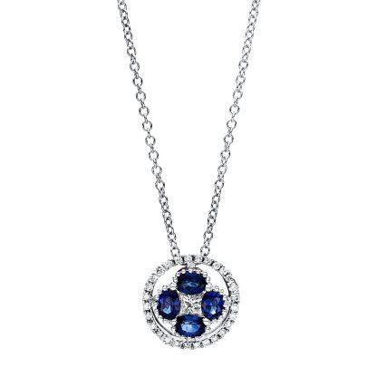 18 kt fehérarany nyaklánc 29 gyémánttal