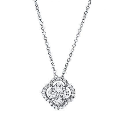 18 kt fehérarany nyaklánc 29 gyémánttal 4F356W8-2