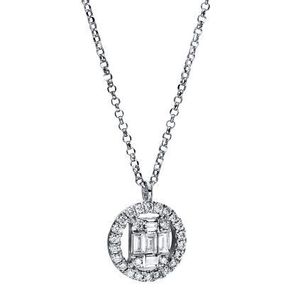 18 kt fehérarany nyaklánc 31 gyémánttal 4E324W8-5