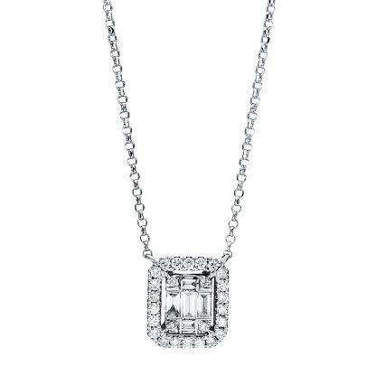 18 kt fehérarany nyaklánc 31 gyémánttal 4F335W8-1