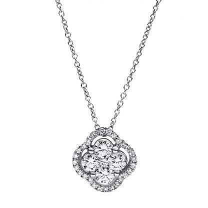 18 kt fehérarany nyaklánc 33 gyémánttal 4F355W8-2