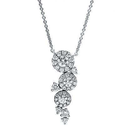 18 kt fehérarany nyaklánc 37 gyémánttal 4F363W8-1