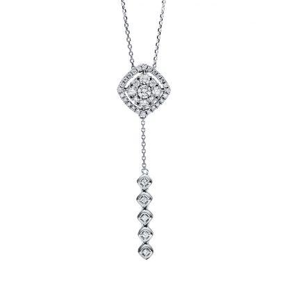 18 kt fehérarany nyaklánc 38 gyémánttal 4F496W8-1