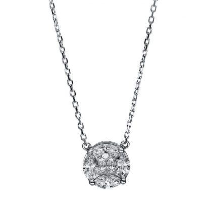 18 kt fehérarany nyaklánc 4 gyémánttal 4F307W8-1