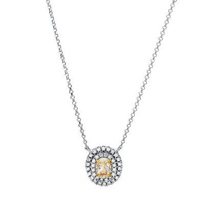 18 kt fehérarany nyaklánc 41 gyémánttal 4F476W8-1