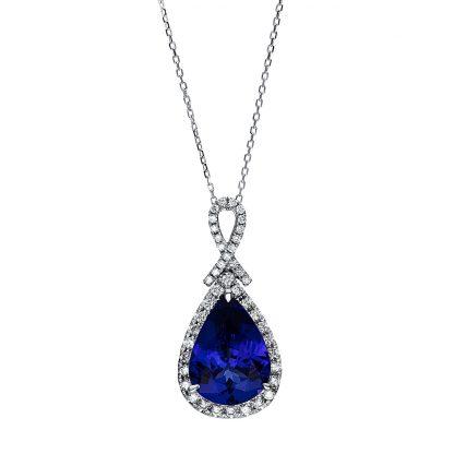 18 kt fehérarany nyaklánc 43 gyémánttal