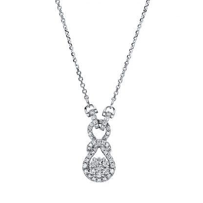 18 kt fehérarany nyaklánc 49 gyémánttal 4F505W8-1