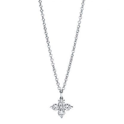 18 kt fehérarany nyaklánc 5 gyémánttal 4F385W8-1