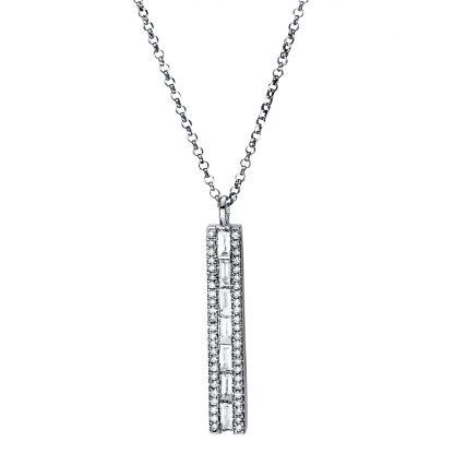 18 kt fehérarany nyaklánc 55 gyémánttal 4F549W8-1