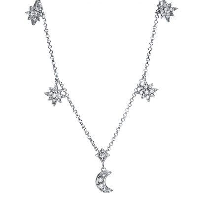 18 kt fehérarany nyaklánc 59 gyémánttal 4F554W8-1