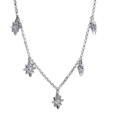 18 kt fehérarany nyaklánc 63 gyémánttal 4F550W8-1