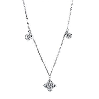 18 kt fehérarany nyaklánc 77 gyémánttal 4F494W8-1