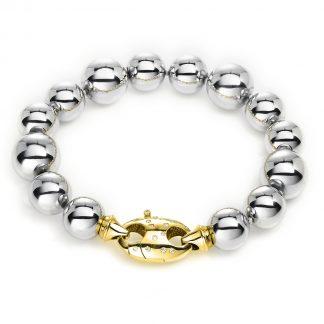 18 kt fehérarany / sárga arany karkötő 26 gyémánttal 5A206WG8-1