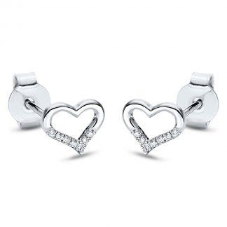 18 kt fehérarany steckeres 14 gyémánttal 2I875W8-2