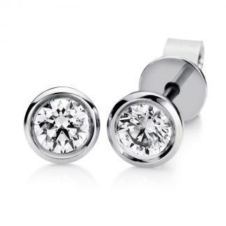 18 kt fehérarany steckeres 2 gyémánttal 2A540W8-2